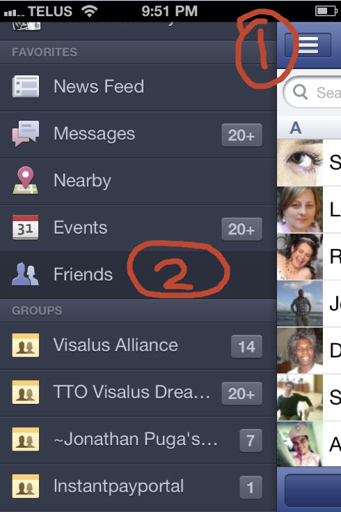 How To Get Facebook Contact Sync on iphone