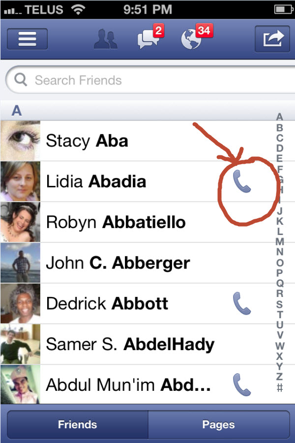 ... syncing you'll see some contacts have a phone icon next to their name